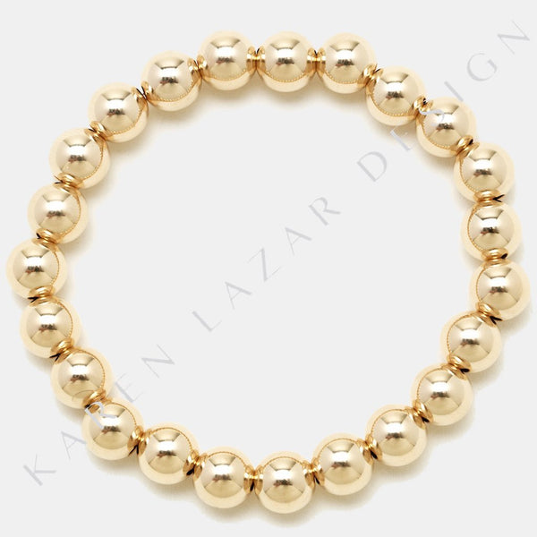 7MM Yellow Gold Filled Bracelet