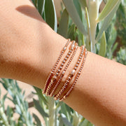2MM Rose Gold Filled Bracelet with Orzo Pattern