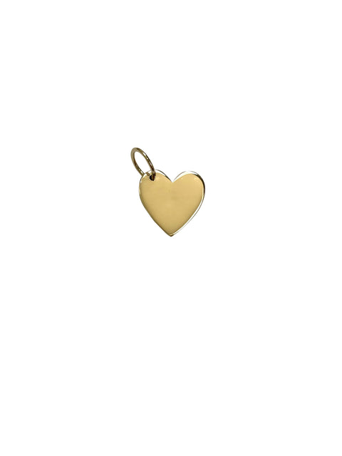 14k Yellow Gold Heart Necklace Charm