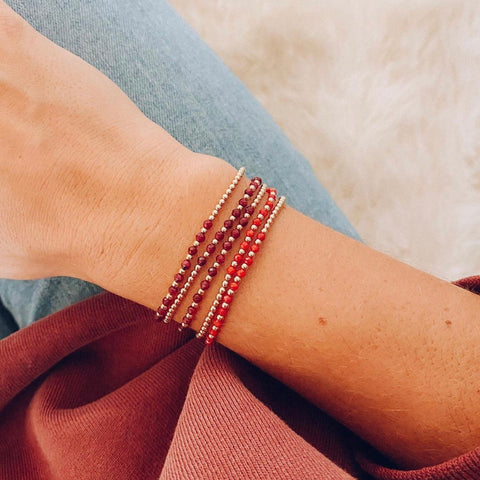 2MM Yellow Gold Filled Bracelet with Ruby Gold Pattern