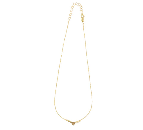 Kids 14K Yellow Gold Heart Chain Necklace
