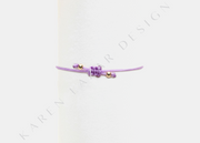 Kids Purple Silk with Yellow Beads