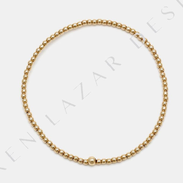 Kids 2MM Yellow Gold Filled Bracelet