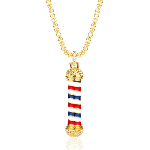 Barber Shop Pole Barber Pole Necklace