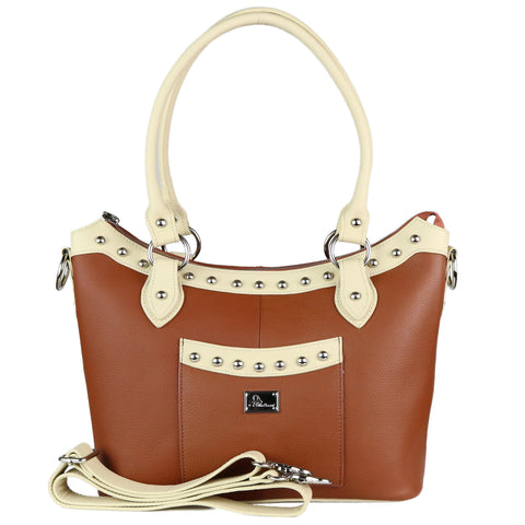 The Renee Two Tone Studded Tote
