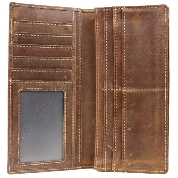 American West Wallets Men's Leather Rodeo Wallet by Urban Cowboy