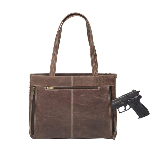 Gun Tote'n Mamas Concealed Carry Purse Concealed Carry Buffalo Leather Shoulder Portfolio by Gun Tote'n Mamas - GTM/CZY-1018