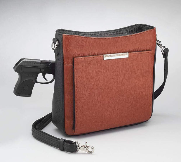 Gun Tote'n Mamas Concealed Carry Purse Concealed Carry Cinnamon & Black Cross Body Organizer by Gun Tote'n Mamas - GTM-98
