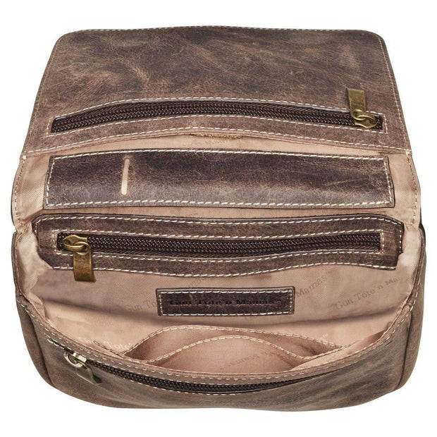 Gun Tote'n Mamas Concealed Carry Purse Concealed Carry Distressed Buffalo Leather Cross Body Organizer Purse by Gun Tote'n Mamas - GTMCZY-15