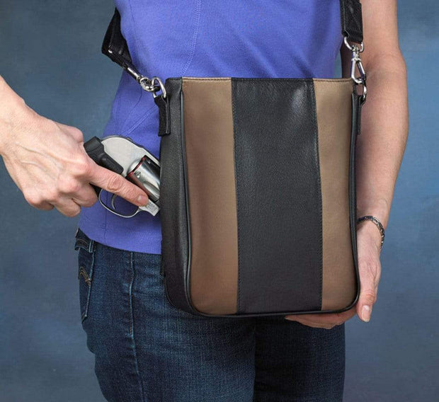 Gun Tote'n Mamas Concealed Carry Purse Concealed Carry Retro Striped Crossbody by Gun Tote'n Mamas - GTM-35