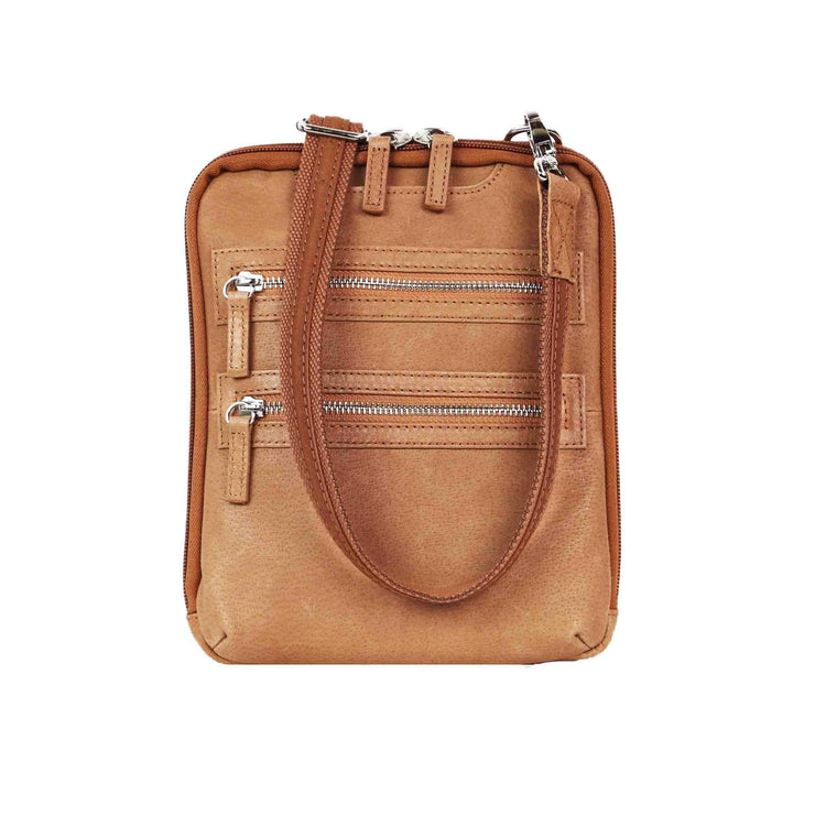 Gun Tote'n Mamas Concealed Carry Purse Tan Concealed Carry Essential Crossbody Bag by Gun Tote'n Mamas - GTM-109