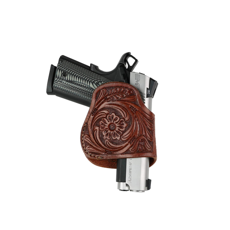 High Caliber Gun Accessories Holsters Unisex Compact Leather Clip-on Gun Holster by High Caliber Gun Accessories