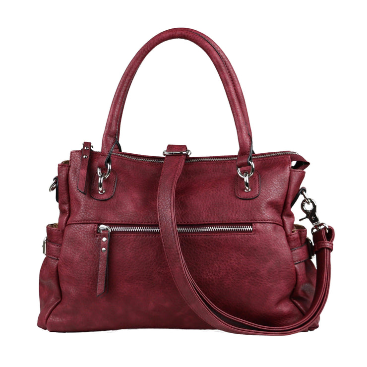 Lady Conceal Concealed Carry Purse Burgundy Concealed Carry Jessica Satchel by Lady Conceal