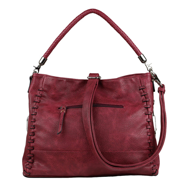 Lady Conceal Concealed Carry Purse Burgundy Concealed Carry Lily Tote by Lady Conceal