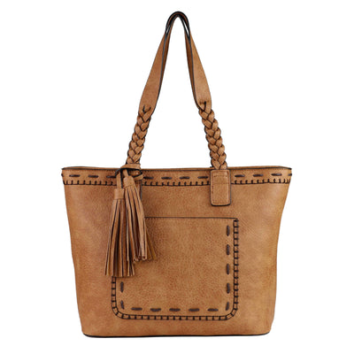 Lady Conceal Concealed Carry Purse Cinnamon Concealed Carry Sophia Stitched Tote by Lady Conceal