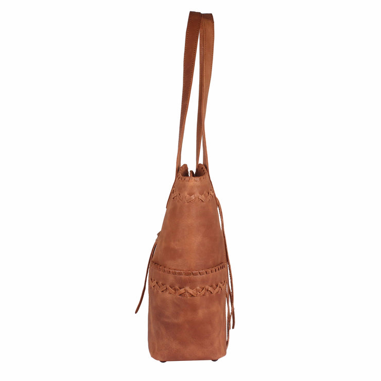 Lady Conceal Concealed Carry Purse Concealed Carry Kendall Leather Stitched Tote by Lady Conceal