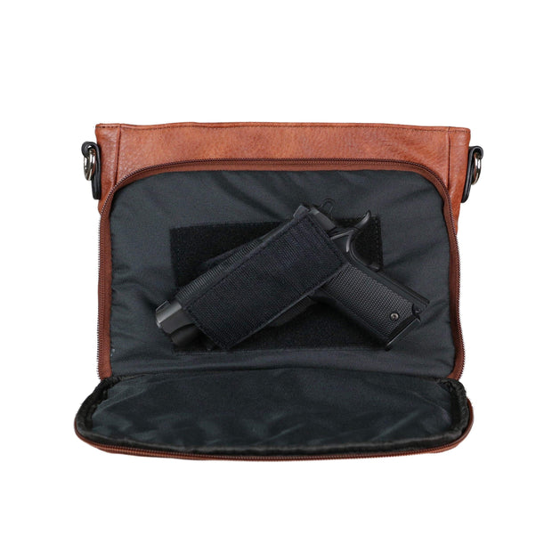 Lady Conceal Concealed Carry Purse Concealed Carry Stitched Skylar Crossbody Organizer by Lady Conceal