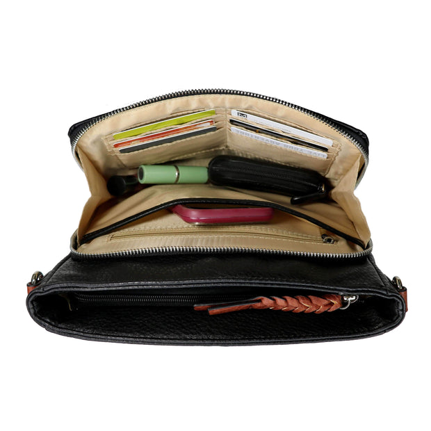Concealed Carry Stitched Skylar Crossbody Organizer by Lady Conceal