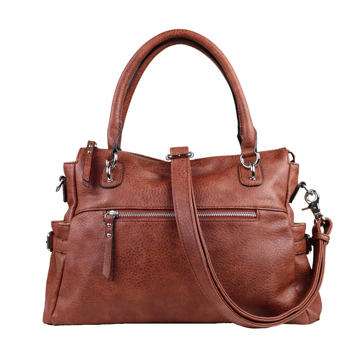 Lady Conceal Concealed Carry Purse Mahogany Concealed Carry Jessica Satchel by Lady Conceal