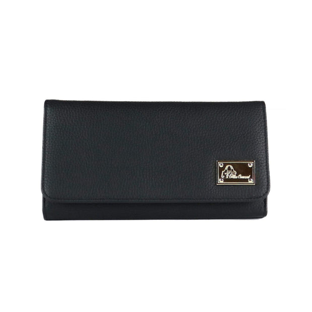 Miss Conceal Wallets Black Genuine Leather Wallet