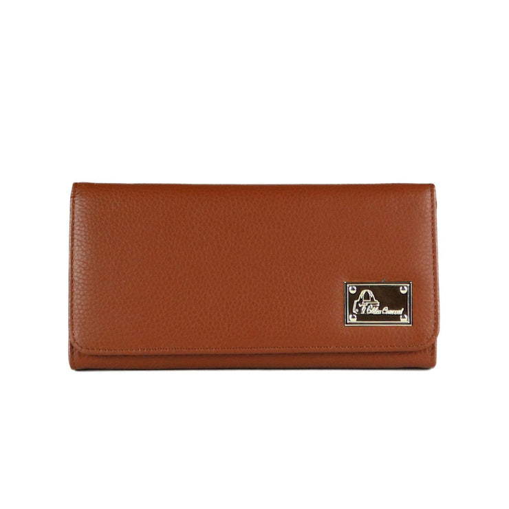 Miss Conceal Wallets Cognac Genuine Leather Wallet