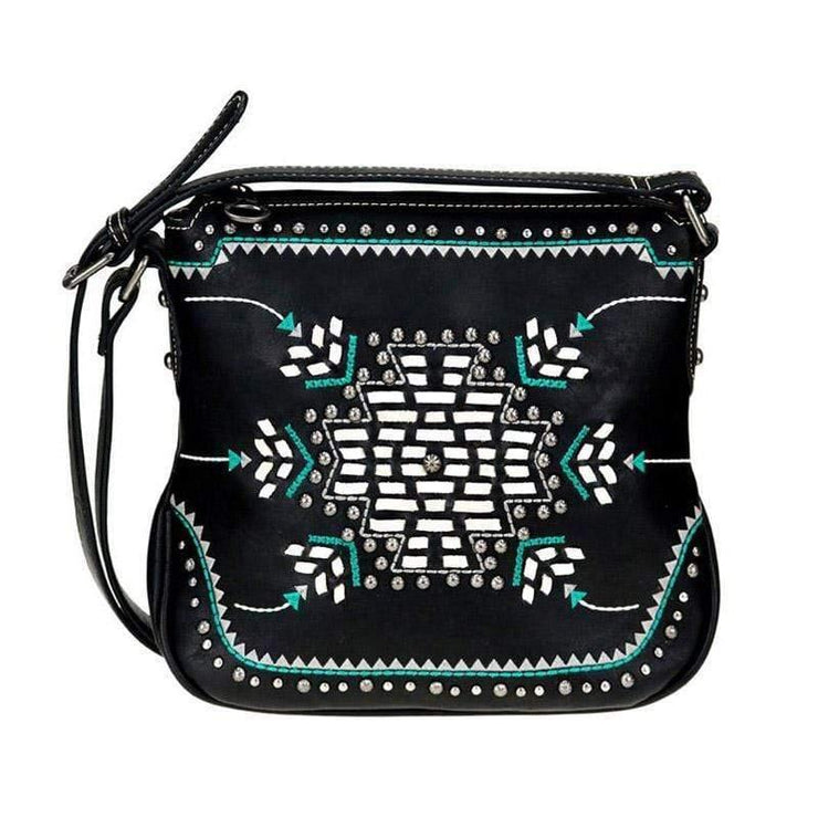 Montana West Concealed Carry Purse Black Concealed Carry Aztec Crossbody Purse by Montana West