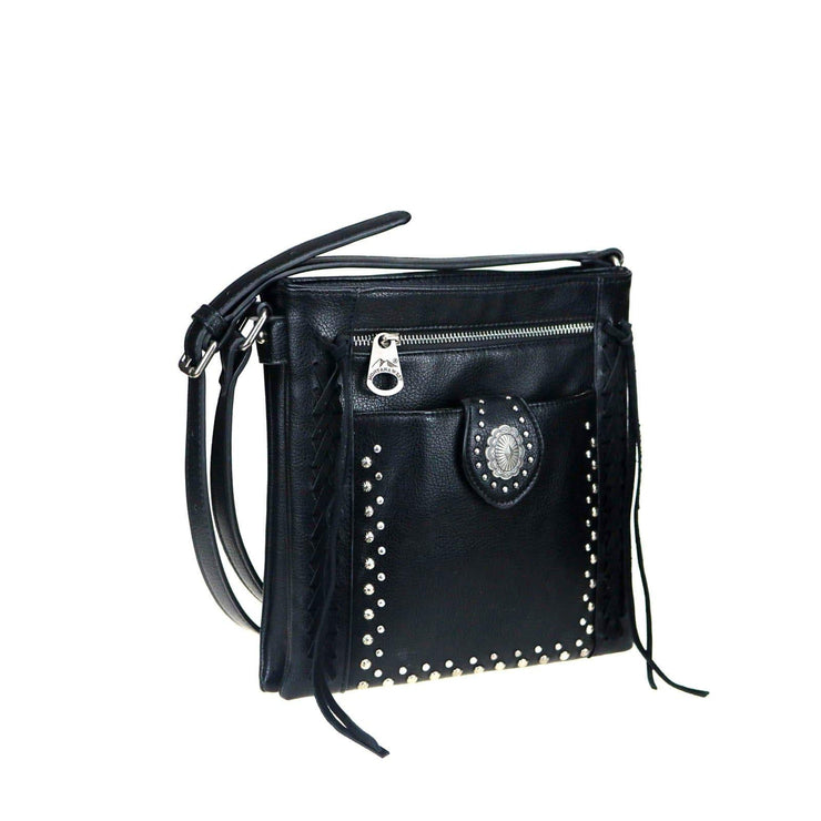 Montana West Concealed Carry Purse Black Concealed Carry Concho Crossbody by Montana West
