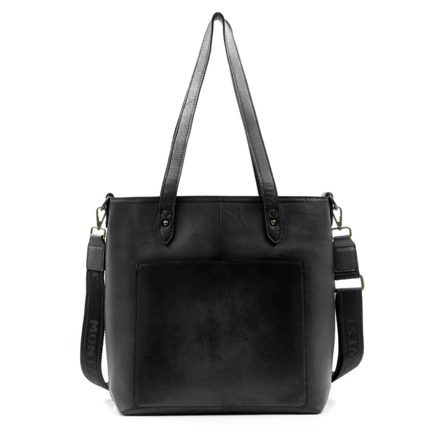 Montana West Concealed Carry Purse Black Concealed Carry Leather Tote/Crossbody by Montana West