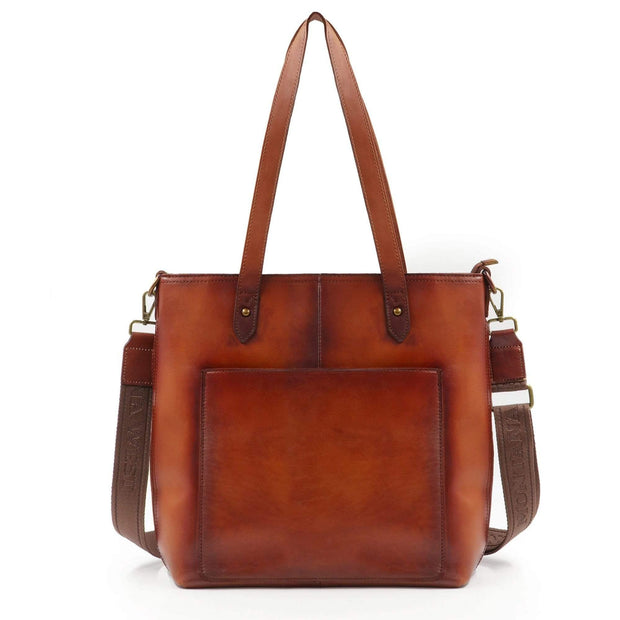 Montana West Concealed Carry Purse Brown Concealed Carry Leather Tote/Crossbody by Montana West
