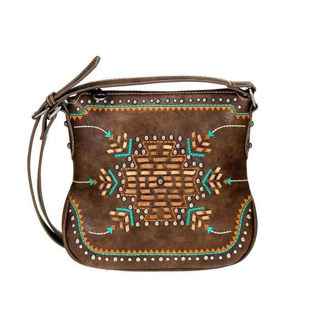 Montana West Concealed Carry Purse Coffee Concealed Carry Aztec Crossbody Purse by Montana West
