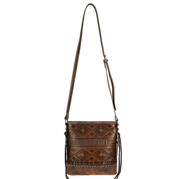 Concealed Carry Aztec Embossed Crossbody by Trinity Ranch