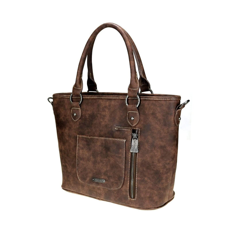 Concealed Carry Aztec Embossed Tote by Trinity Ranch