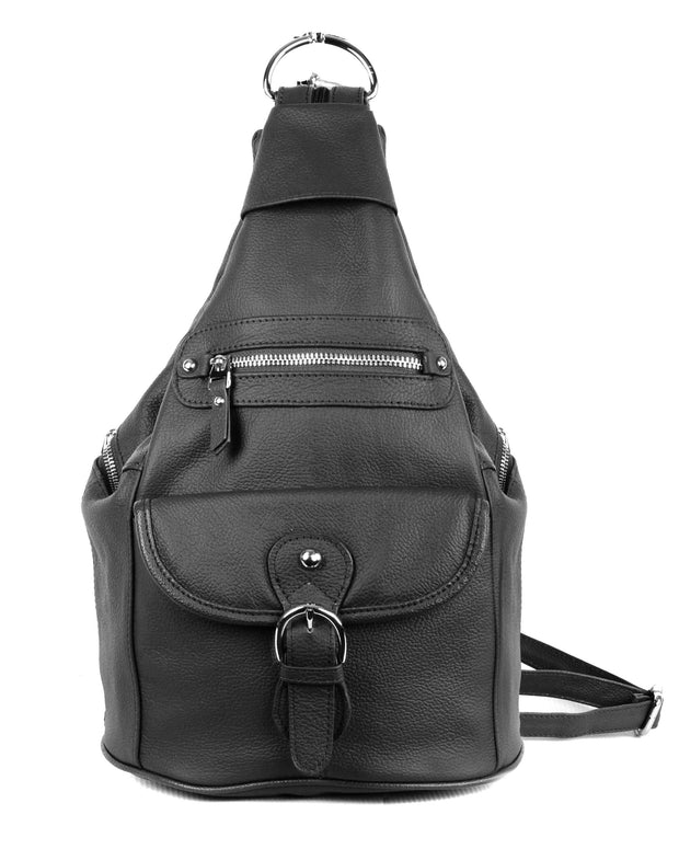 Roma Leathers Bags Black Concealed Carry Versatile Backpack Purse by Roma Leathers