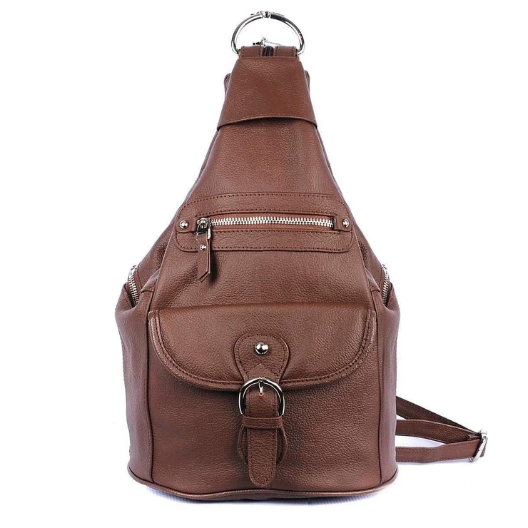 Roma Leathers Bags Brown Concealed Carry Versatile Backpack Purse by Roma Leathers