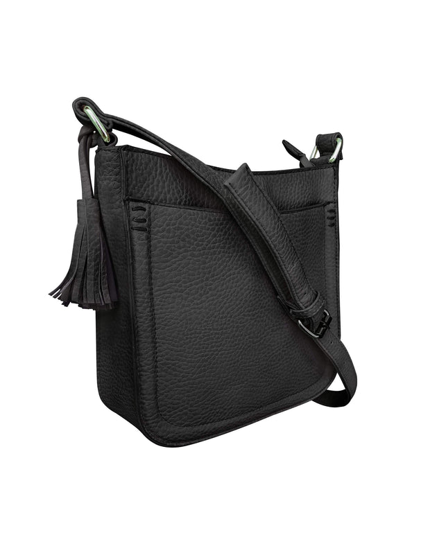 Roma Leathers Concealed Carry Purse Black Concealed Carry Tassel Crossbody by Roma Leathers