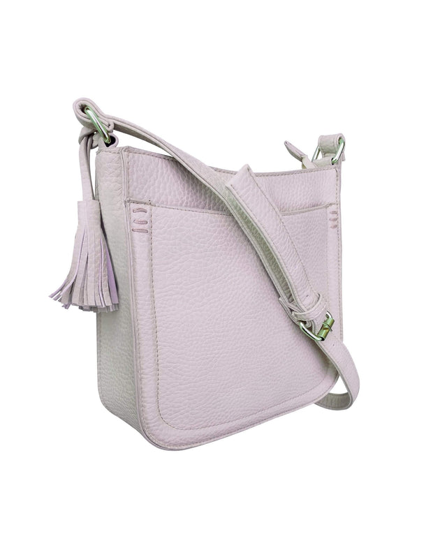 Roma Leathers Concealed Carry Purse Blush Concealed Carry Tassel Crossbody by Roma Leathers