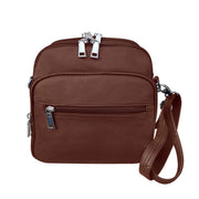 Roma Leathers Concealed Carry Purse Brown Concealed Carry Leather Crossbody Organizer by Roma Leathers