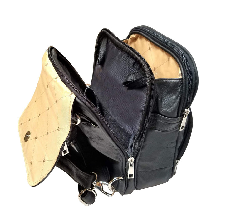 Roma Leathers Concealed Carry Purse Concealed Carry Backpack Crossbody Organizer Bag by Roma Leathers