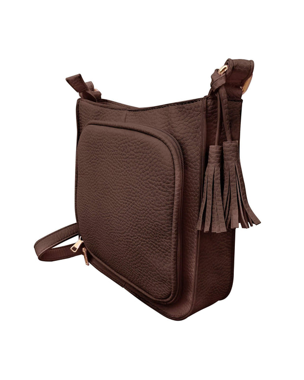 Roma Leathers Concealed Carry Purse Concealed Carry Tassel Crossbody by Roma Leathers
