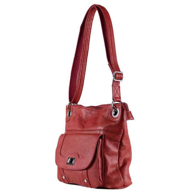Roma Leathers Concealed Carry Purse Concealed Carry Twist Lock Pocket Crossbody by Roma Leathers
