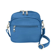 Roma Leathers Concealed Carry Purse Light Blue Concealed Carry Leather Crossbody Organizer by Roma Leathers