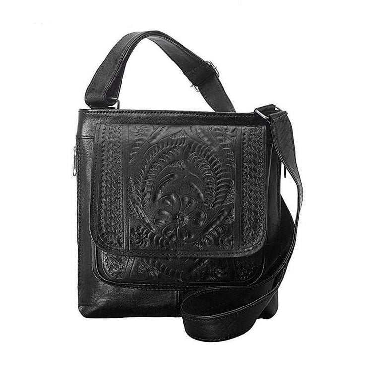 Ropin West Concealed Carry Purse Black Concealed Carry Organizer Crossbody by Ropin West