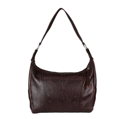 Ropin West Concealed Carry Purse Brown Concealed Carry Leather Satchel Purse by Ropin West