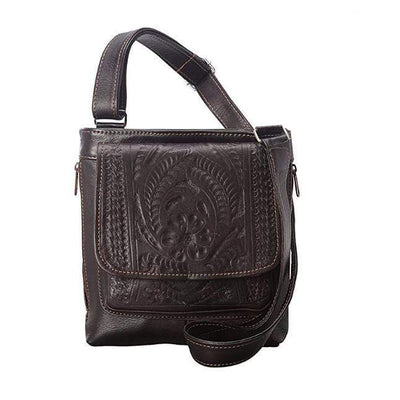 Ropin West Concealed Carry Purse Brown Concealed Carry Organizer Crossbody by Ropin West