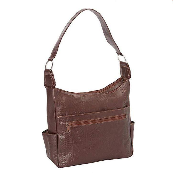 Ropin West Concealed Carry Purse Brown Concealed Carry Pocket Shoulder Purse by Ropin West