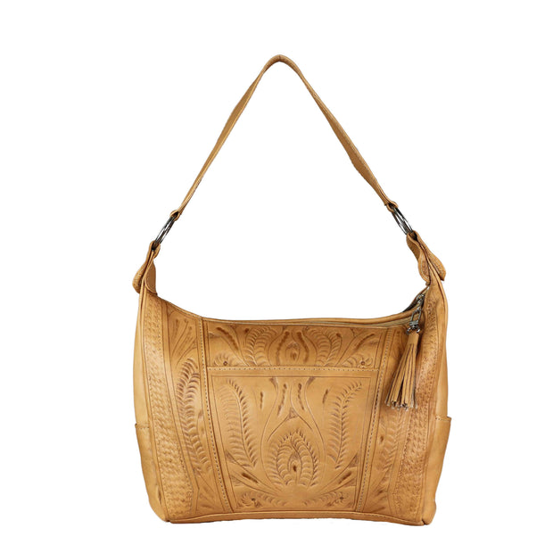 Ropin West Concealed Carry Purse Natural Concealed Carry Leather Satchel Purse by Ropin West