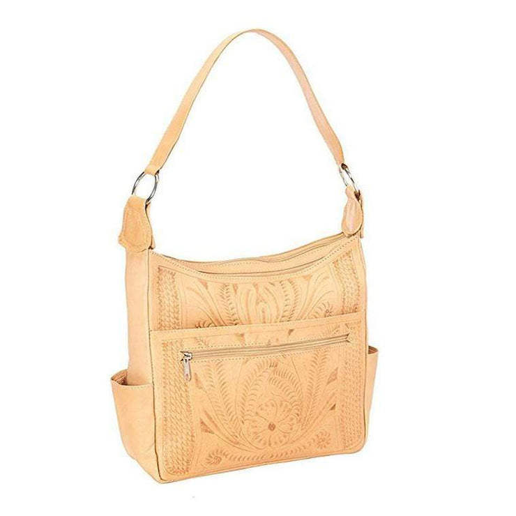 Ropin West Concealed Carry Purse Natural Concealed Carry Pocket Shoulder Purse by Ropin West