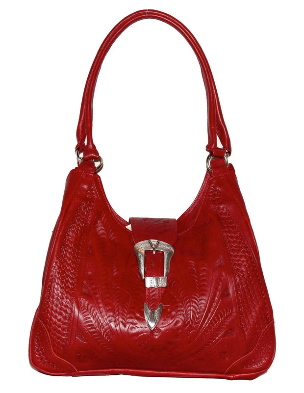 Ropin West Concealed Carry Purse Red Concealed Carry Leather Purse -  Buckle Shoulder Purse by Ropin West