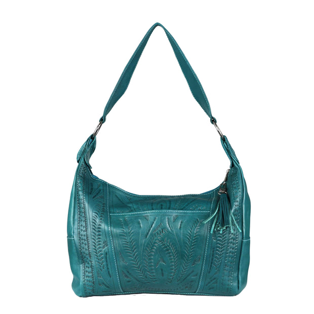 Ropin West Concealed Carry Purse Turquoise Concealed Carry Leather Satchel Purse by Ropin West