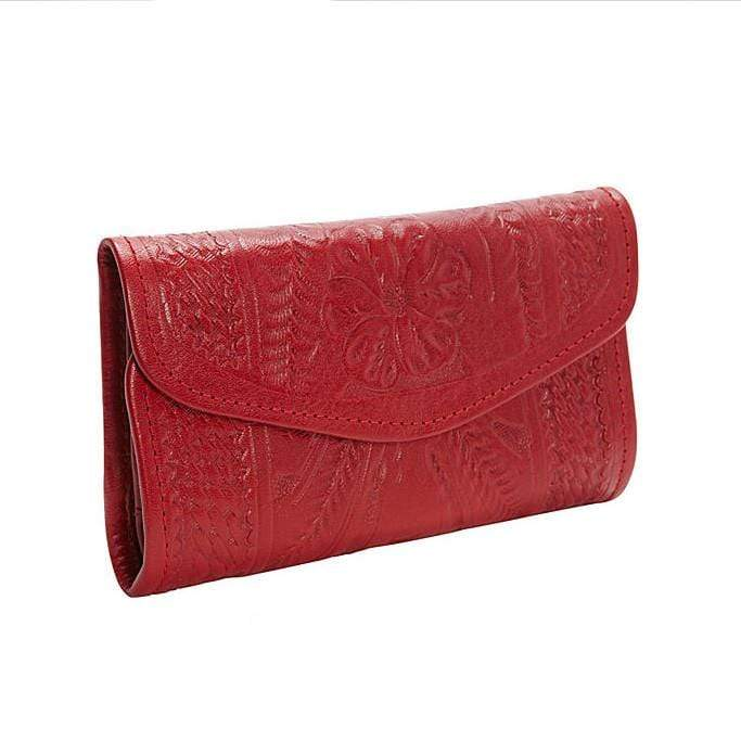 Ropin West Wallets Hand Tooled Leather Tri-fold Wallet by Ropin West